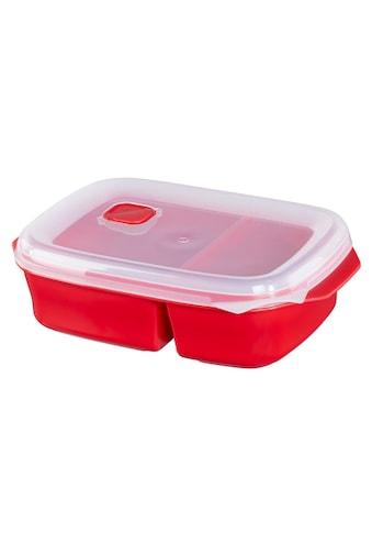 Xavax Mikrowellendose mit 2 Speisefächern, 1,3 l, Rot »Mikrowellengeschirr« kaufen