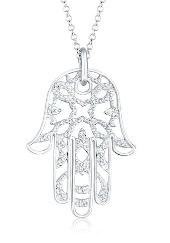 Elli Collierkettchen »Hamsa Hand der Fatima Kristalle 925 Silber« kaufen