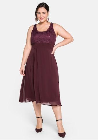 Sheego Cocktailkleid, mit Spitze und Pailletten kaufen