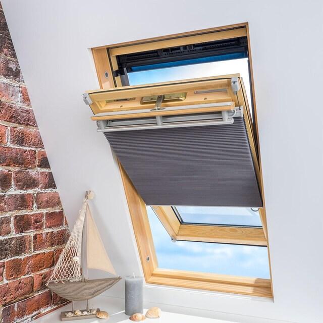 Dachfensterplissee, »Universal Dachfenster-Plissee«, Liedeco, verdunkelnd, ohne Bohren, verspannt