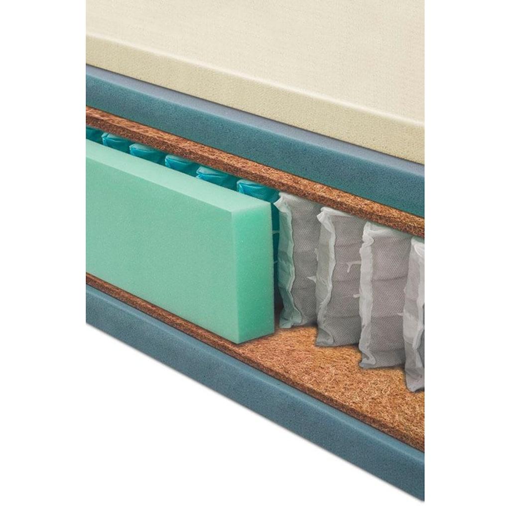 grüne betten Boxspringbett »Amelia«, mit 7-Zonen-Tonnentaschenfederkern-Matratze und Zierkissen, 100% vegan