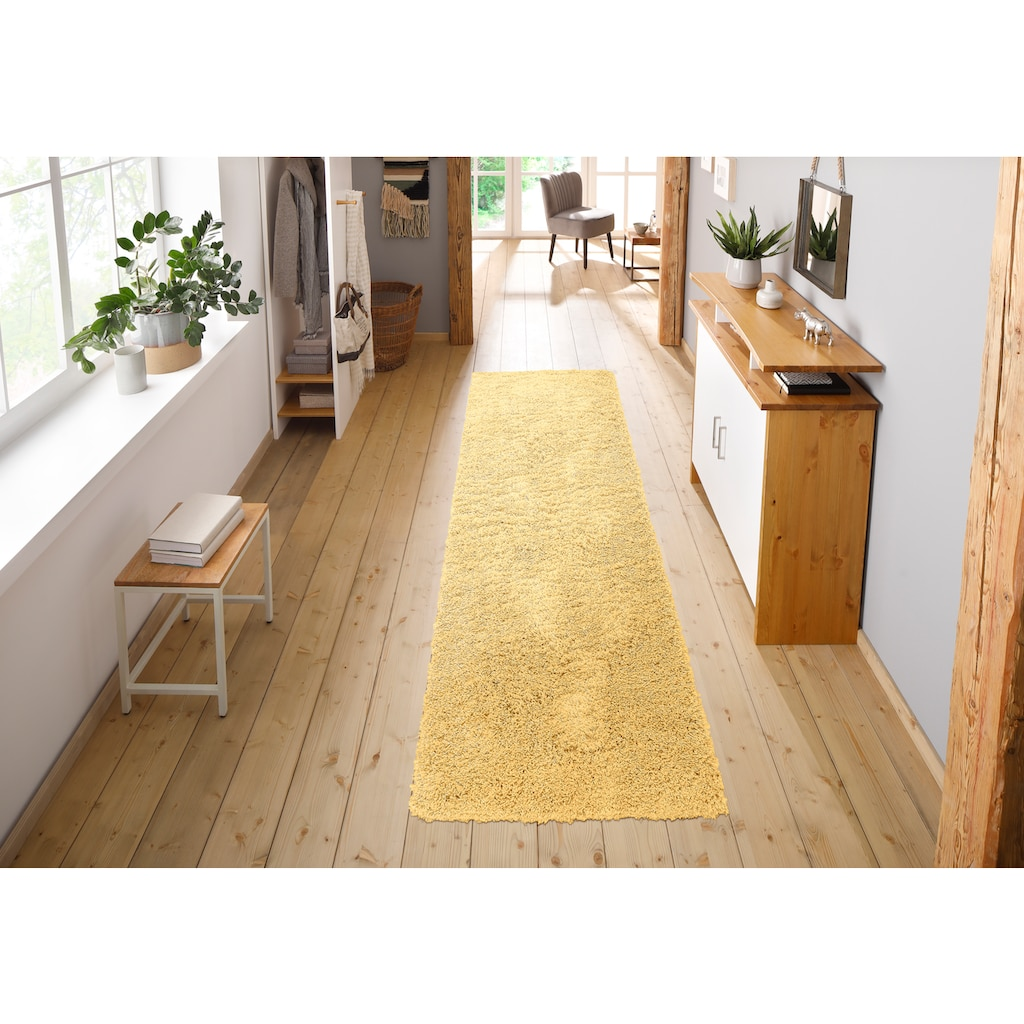 Home affaire Hochflor-Läufer »Viva«, rechteckig, 45 mm Höhe, gewebt