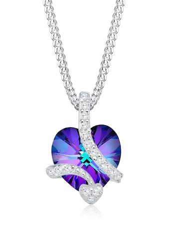 Elli Collierkettchen »Herz aus Kristalle Edel 925 Silber« kaufen