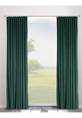 Vorhang, »Velvet uni«, my home, Multifunktionsband 2 Stück kaufen