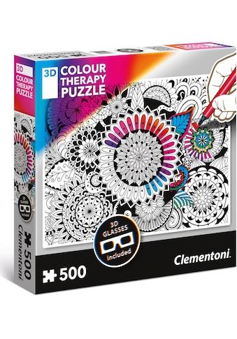 Clementoni® Puzzle »Colour Therapy - Blumen«, mit 3D Effekt; Made in Europe kaufen