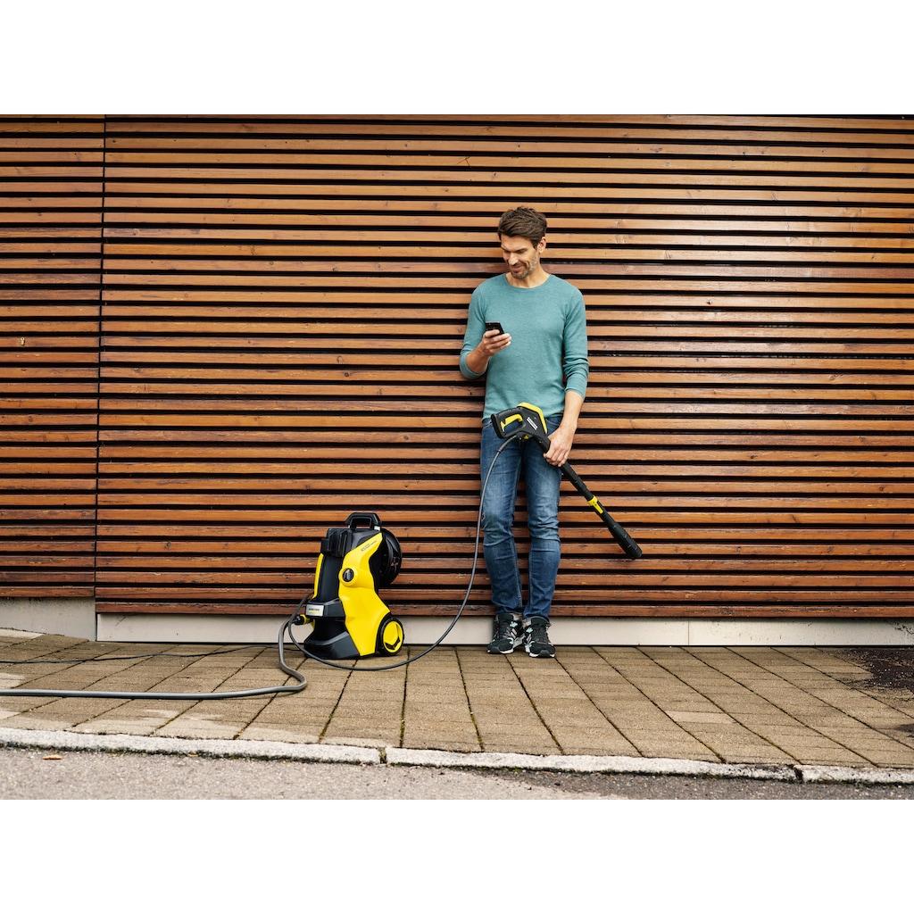 KÄRCHER Hochdruckreiniger »K 5 Premium Smart Control Home«, mit Boost-Mode, G 180 Q Smart Control-Pistole, 3-in-1-Multi Jet, Schlauchtrommel und Home Kit