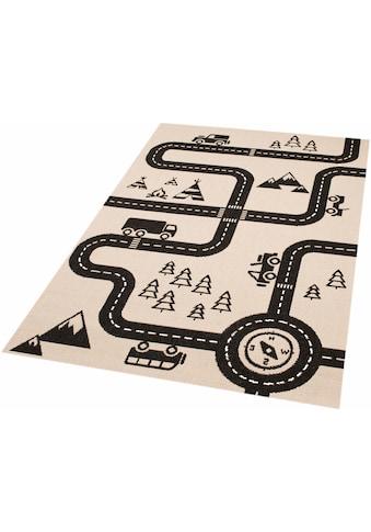 Zala Living Kinderteppich »Road Map Charly«, rechteckig, 4 mm Höhe,... kaufen