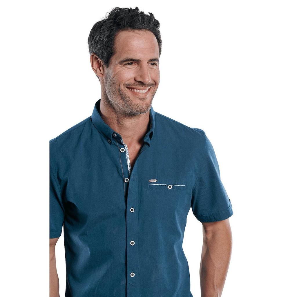 Engbers Sommerliches Kurzarmhemd mit floralen Kontrastdetails