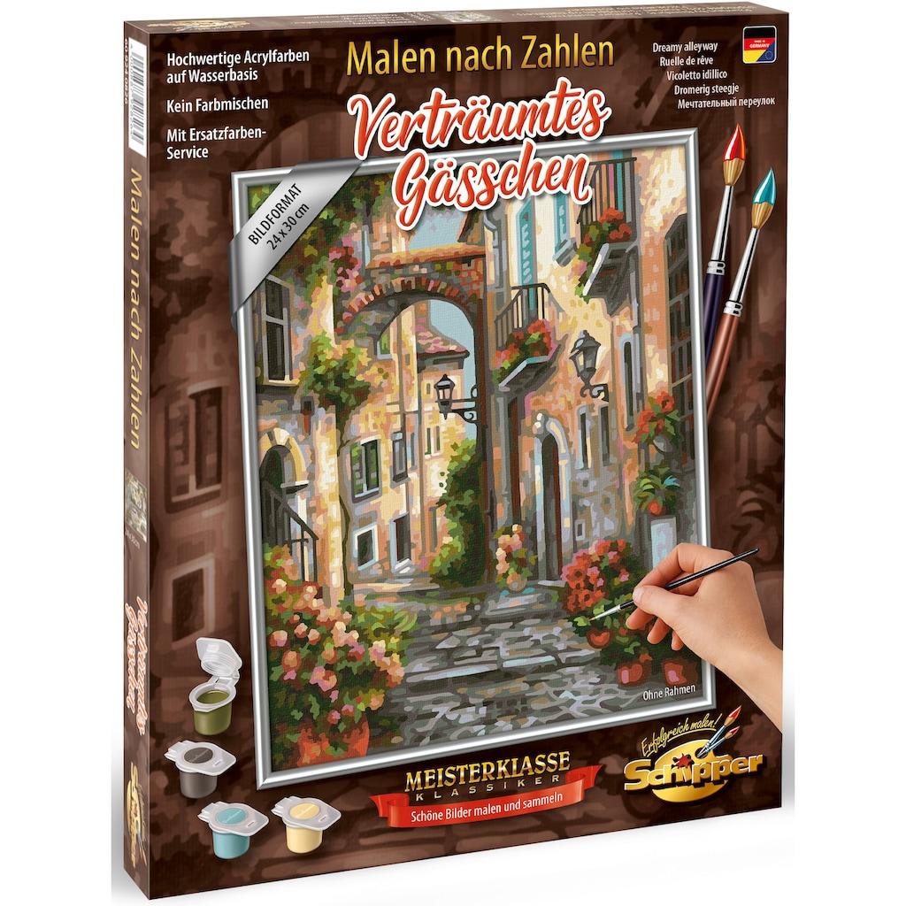 Schipper Malen nach Zahlen »Meisterklasse Klassiker - Verträumtes Gässchen«, Made in Germany