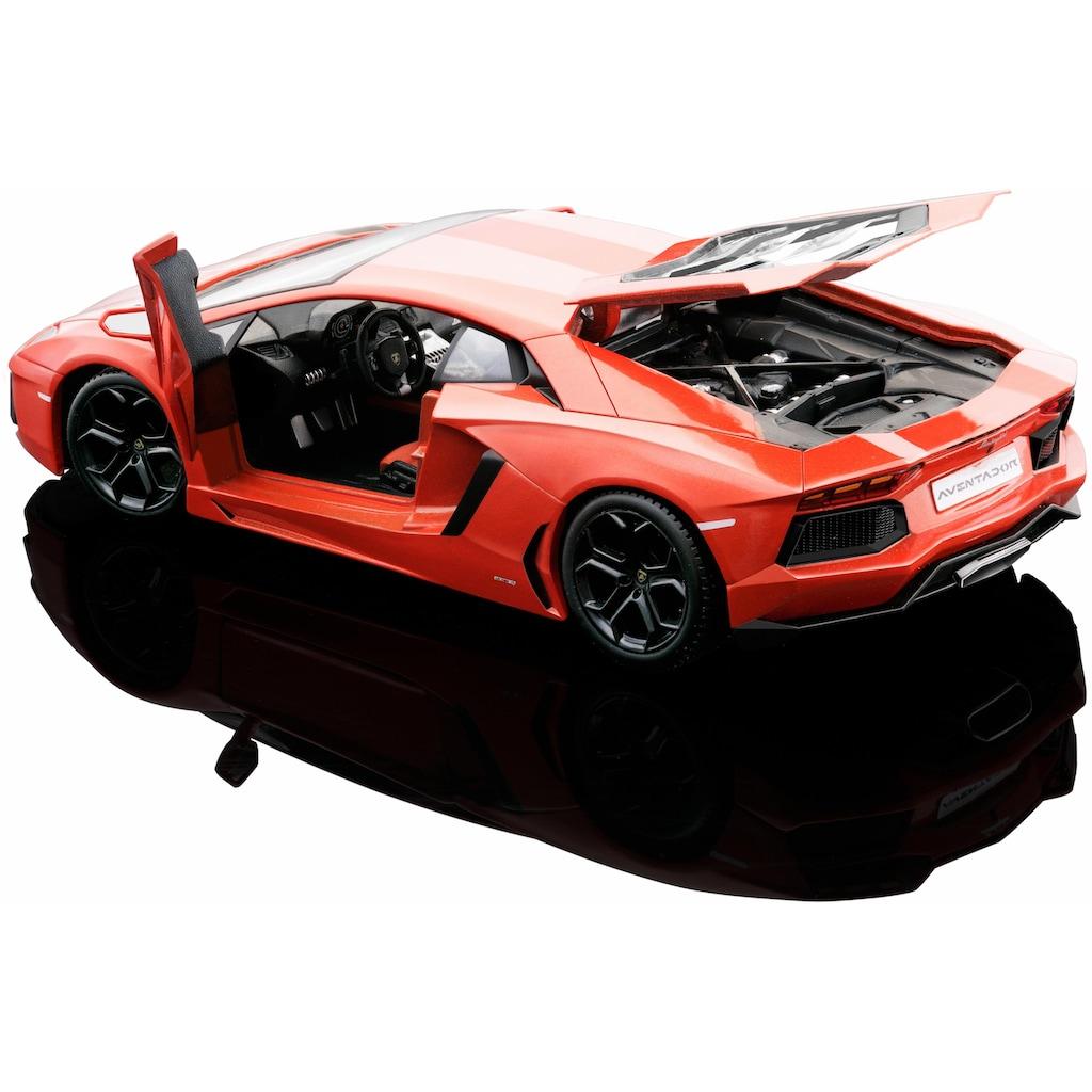 Maisto® Sammlerauto »Lamborghini Aventador LP700-4 11, 1:24, orange«, 1:24, aus Metallspritzguss