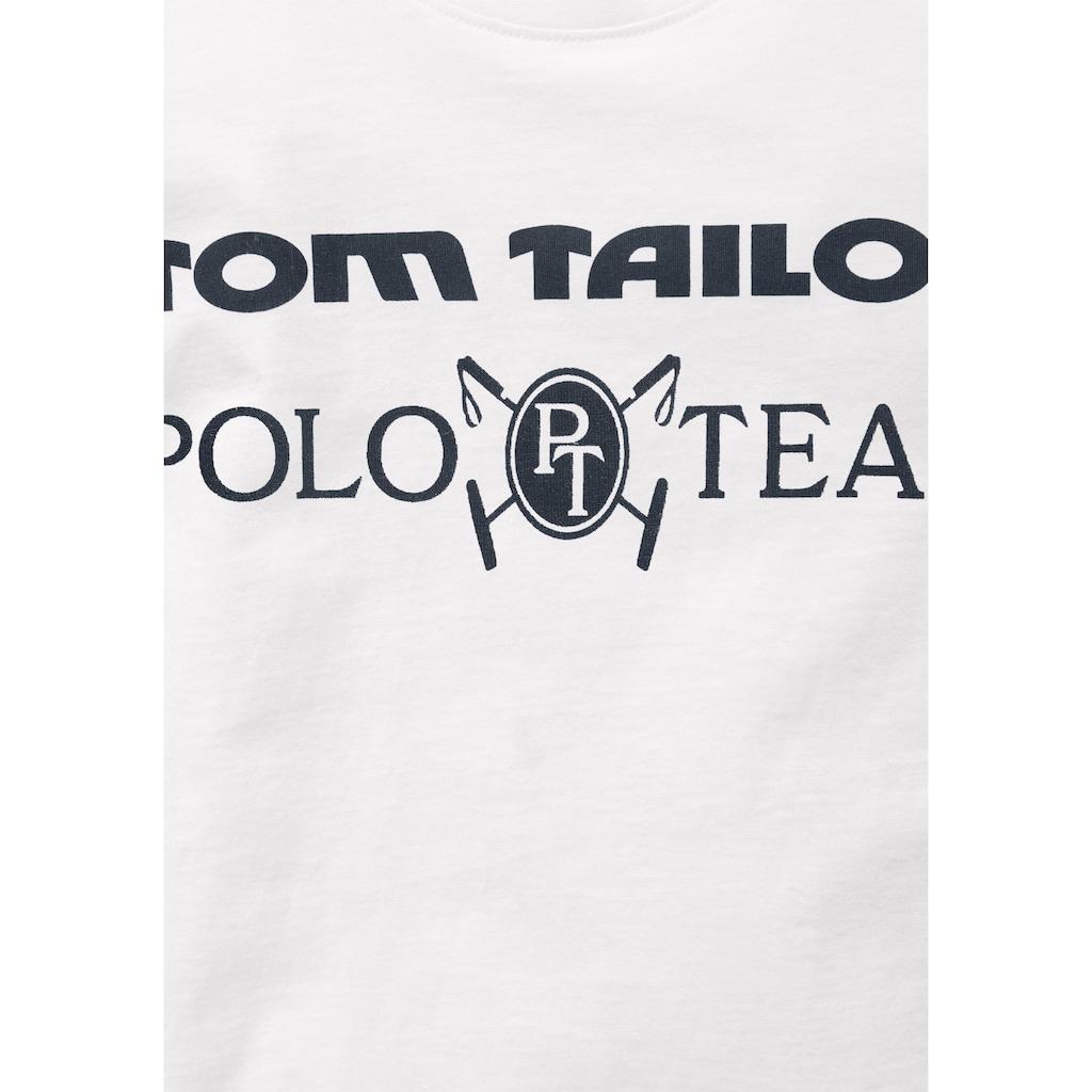 TOM TAILOR Polo Team Langarmshirt, mit dunklem Druck