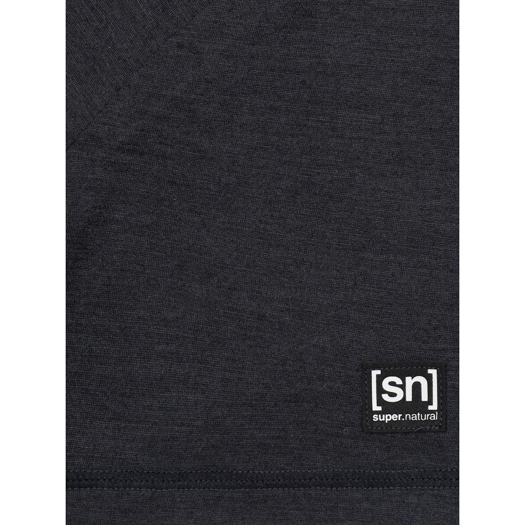 SUPER.NATURAL T-Shirt »M LOGO TEE«, feinster Merino-Materialmix