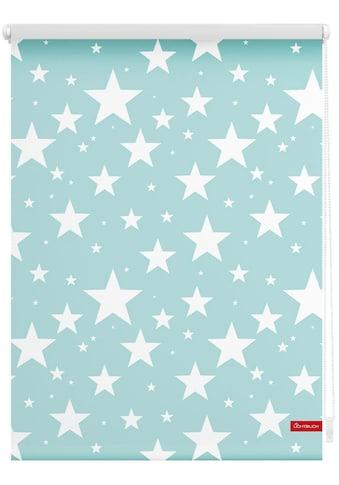 Seitenzugrollo »Klemmfix Digital Sterne«, LICHTBLICK, verdunkelnd, ohne Bohren, freihängend kaufen