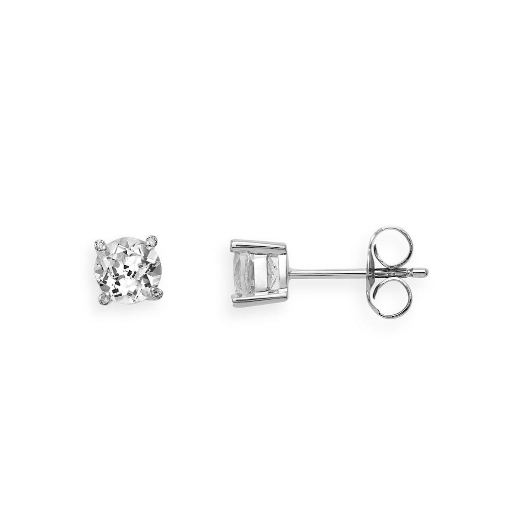 XENOX Paar Ohrstecker »FARBSTEIN, XG4541, XG4541G«, mit Topas und Diamanten