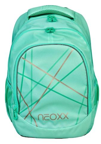 neoxx Schulrucksack »Fly, Mint to be«, Reflektionsnaht, aus recycelten PET-Flaschen kaufen