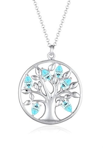 Elli Kette mit Anhänger »Lebensbaum Zirkonia 925 Sterling Silber« kaufen