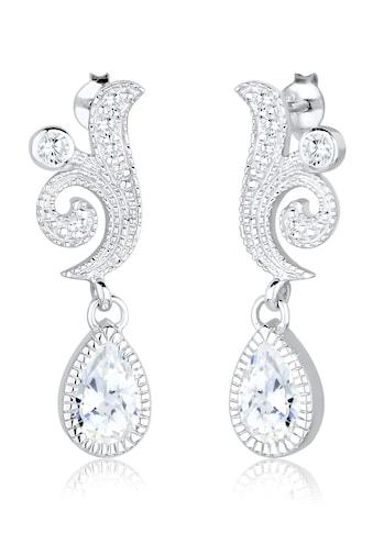 Elli Paar Ohrhänger »Ornament Tropfen Festlich Zirkonia 925 Silber« kaufen