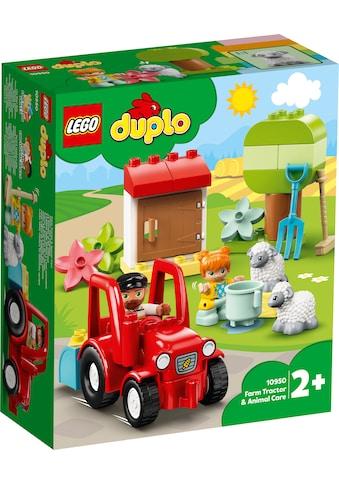 LEGO® Konstruktionsspielsteine »Traktor und Tierpflege (10950), LEGO® DUPLO® Town«,... kaufen