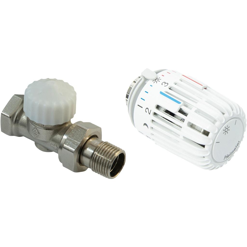 CORNAT Heizkörperthermostat »Durchgang«, Thermostatventil und Kopf