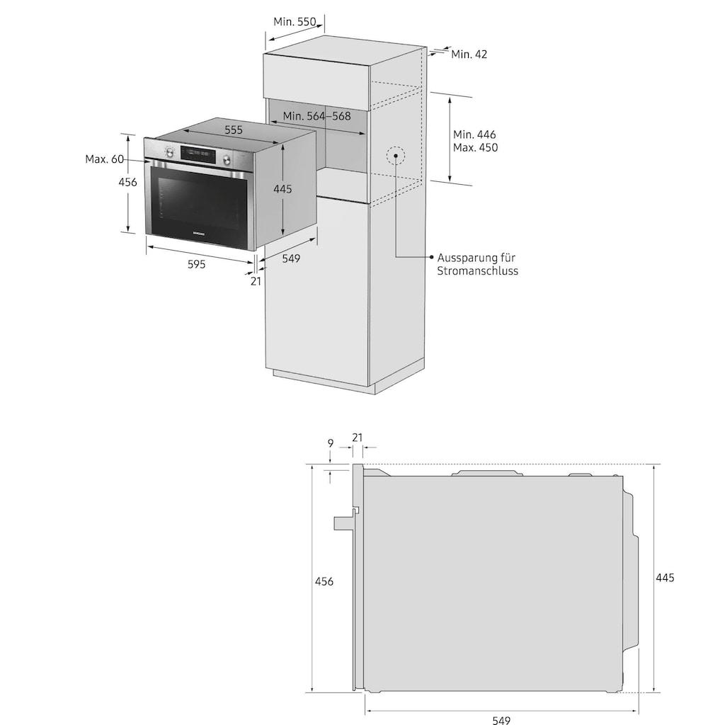 Samsung Backofen mit Mikrowelle »NQ50J3530BS/EG«, NQ50J3530BS