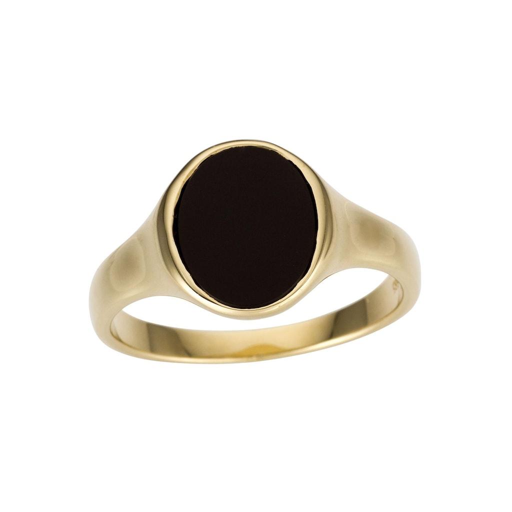 Firetti Goldring »Siegelring, Glanz, massiv«, mit Onyx