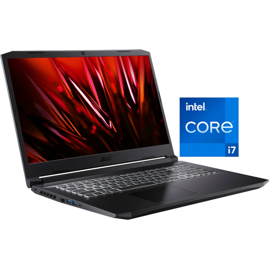 "Acer Notebook »Nitro 5 AN517-54-77WQ«, (43,94 cm/17,3 "" Intel Core i7 GeForce RTX™ 3060\r\n 1000 GB SSD), Kostenloses Upgrade auf Windows 11, sobald verfügbar"