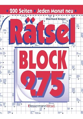 Buch »Rätselblock 275 (5 Exemplare à 2,99 EUR) / Eberhard Krüger« kaufen