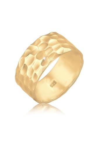 Elli Fingerring »Breit Bandring Gehämmert Matt 925er Silber« kaufen