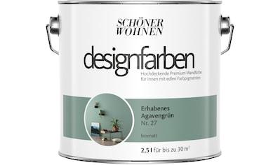 SCHÖNER WOHNEN FARBE Farbe »Designfarben«, Erhabenes Agavengrün Nr. 27, feinmatt 2,5 l kaufen