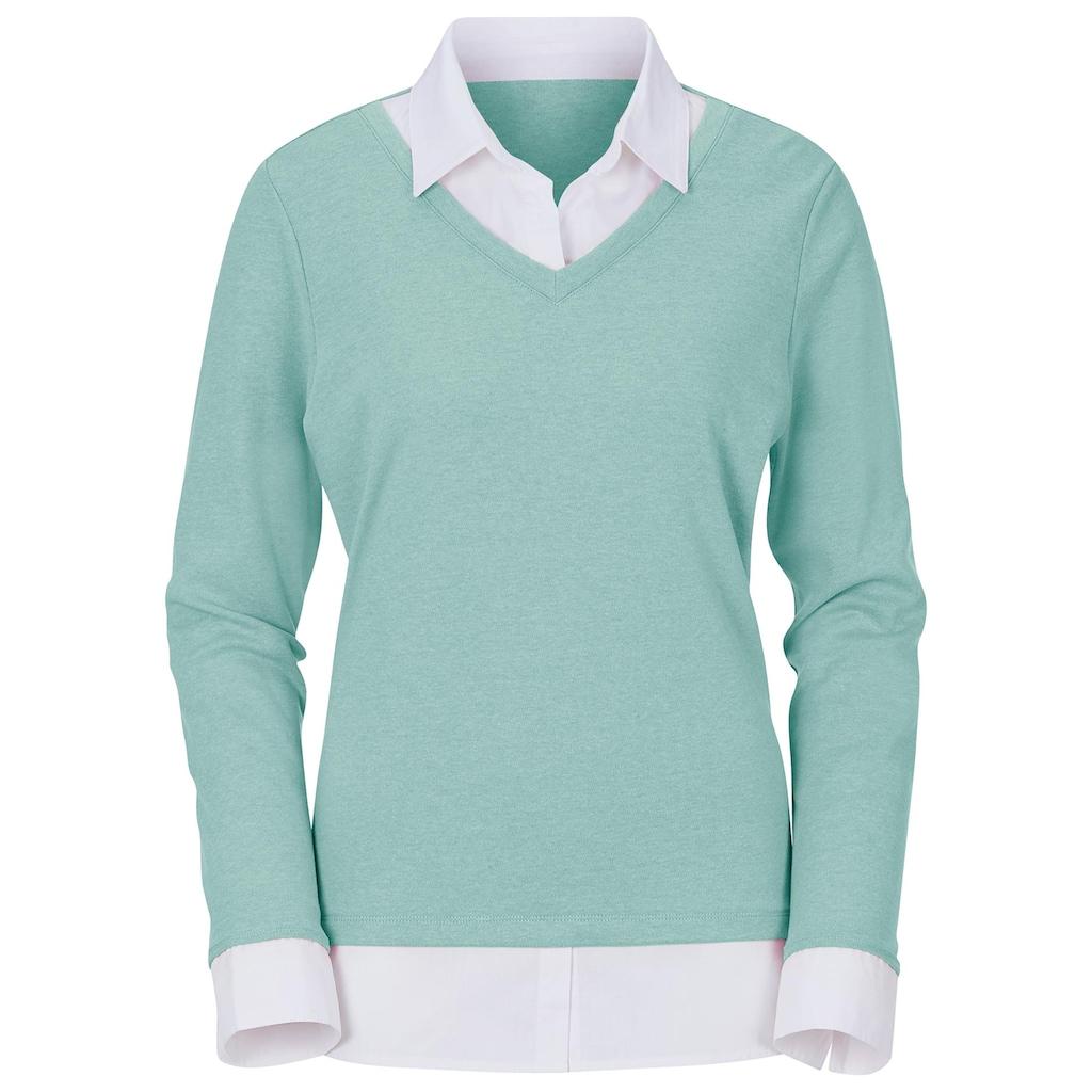 Casual Looks 2-in-1-Langarmshirt