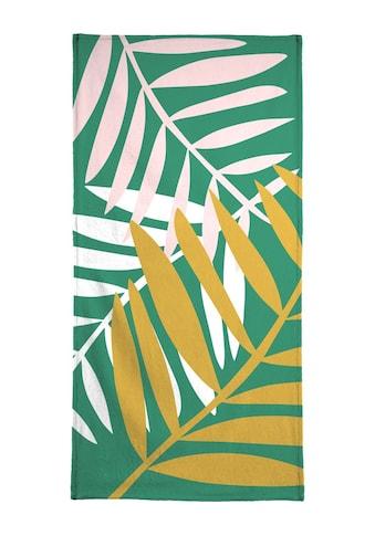 Juniqe Handtuch »Palm Leaves in Green«, (1 St.), Weiche Frottee-Veloursqualität kaufen