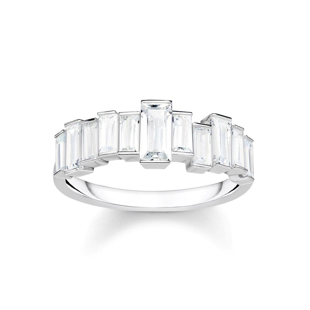THOMAS SABO Silberring »Weiße Steine, Baguette-Schliff, TR2269-051-14-50, 52, 54, 56, 58, 60«, mit Zirkonia