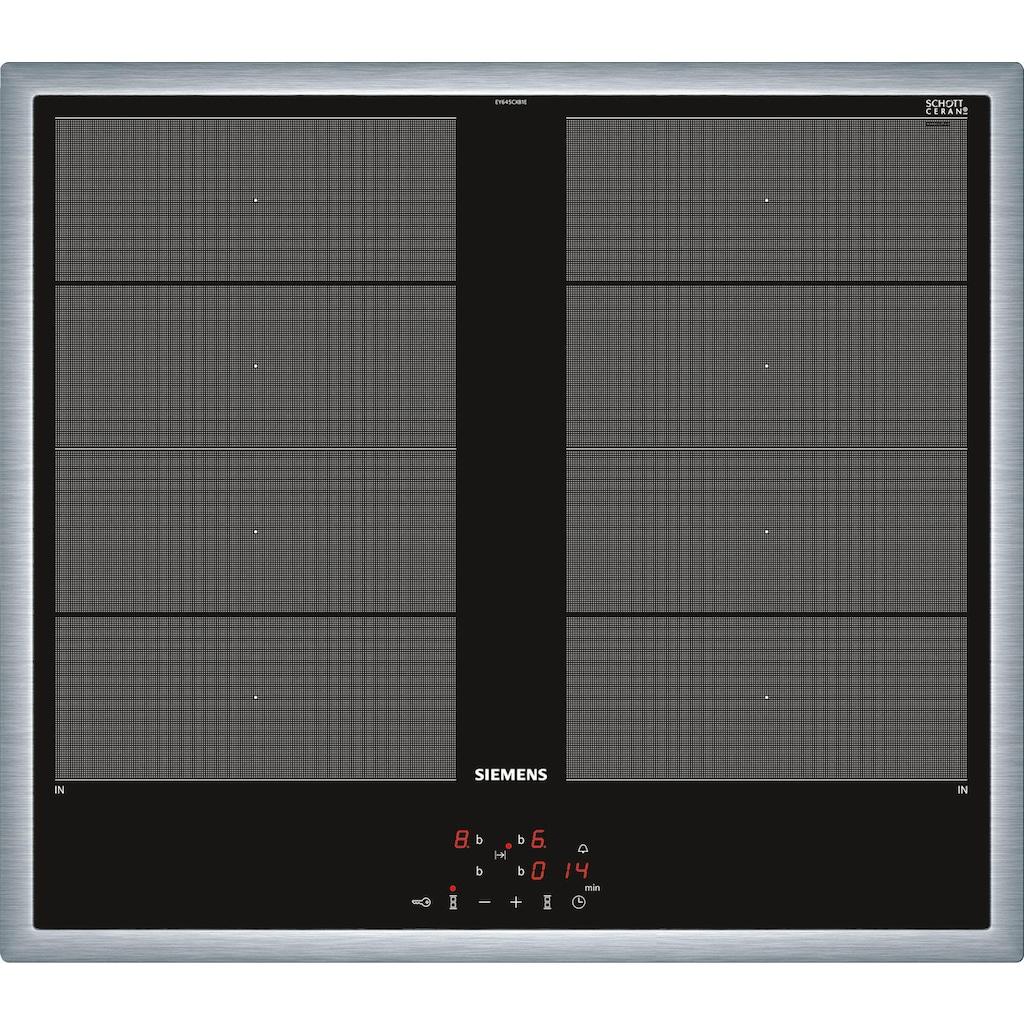 SIEMENS Flex-Induktions-Herd-Set »PQ521VA0ZM«, HE578ABS1, mit Teleskopauszug nachrüstbar, Pyrolyse-Selbstreinigung