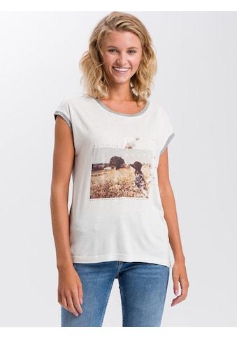 Cross Jeans® T-Shirt »55734«, Motto Frontprint kaufen