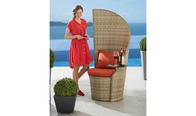 LECO Gartenstuhl »Business«, Polyrattan, natur, inkl. Sitzkissen kaufen