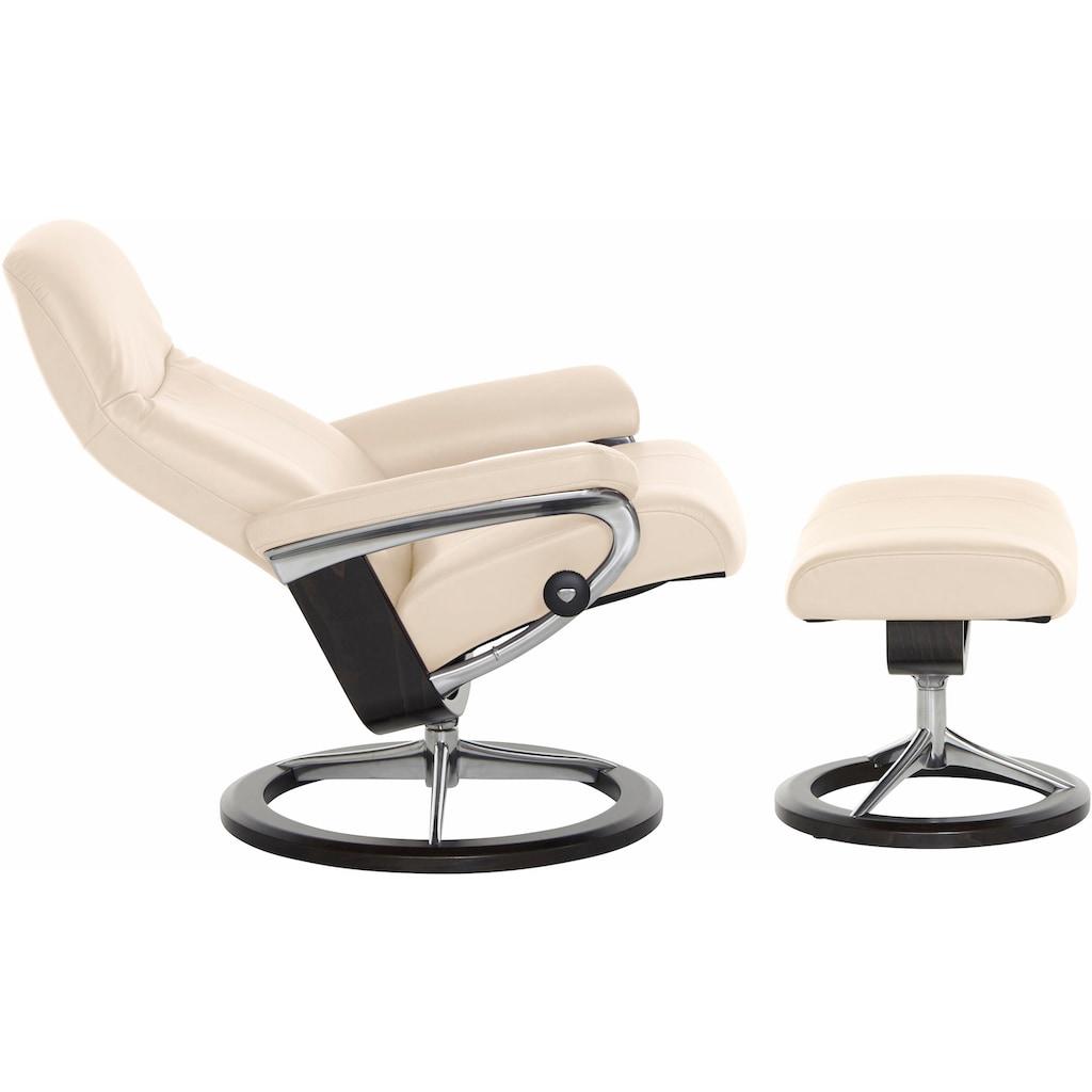 Stressless® Relaxsessel »Garda«, mit Hocker, mit Signature Base, Größe M, Gestell Wenge