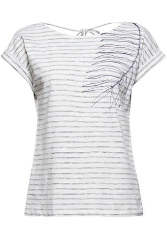 Esprit T-Shirt, mit tiefem Ausschnitt und Bindedetail im Rücken kaufen