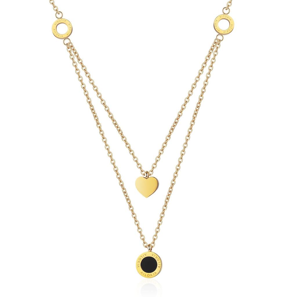 AILORIA Kette mit Anhänger »ALINE Halskette Gold«, Hochglanz-Finish