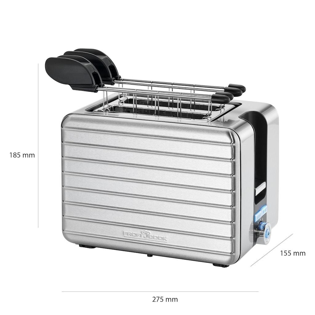 ProfiCook Toaster »PC-TAZ 1110«, 2 kurze Schlitze, für 2 Scheiben, 1050 W