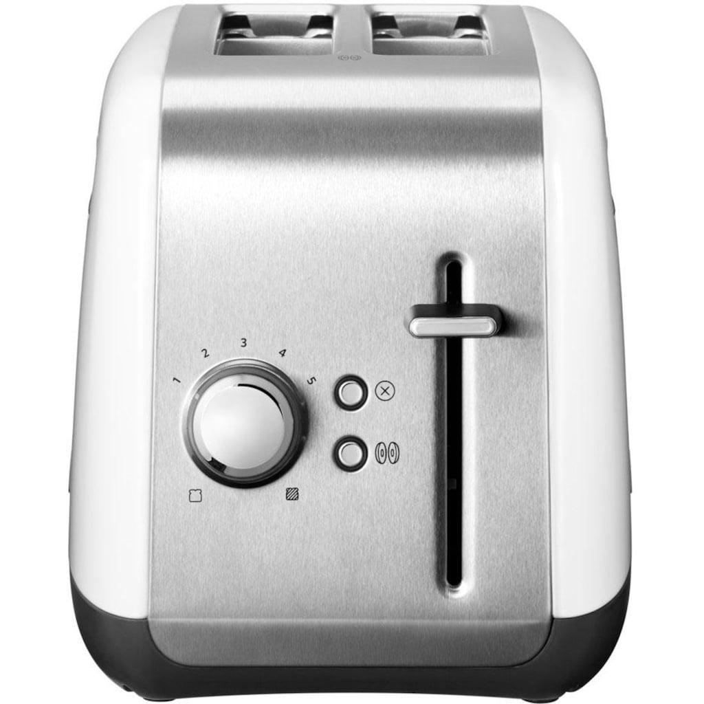KitchenAid Toaster »5KMT2115EWH«, 2 kurze Schlitze, für 2 Scheiben, 240 W