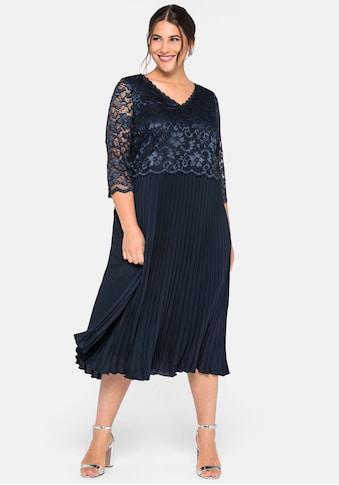 Sheego Abendkleid, mit elegantem Spitzenoberteil kaufen