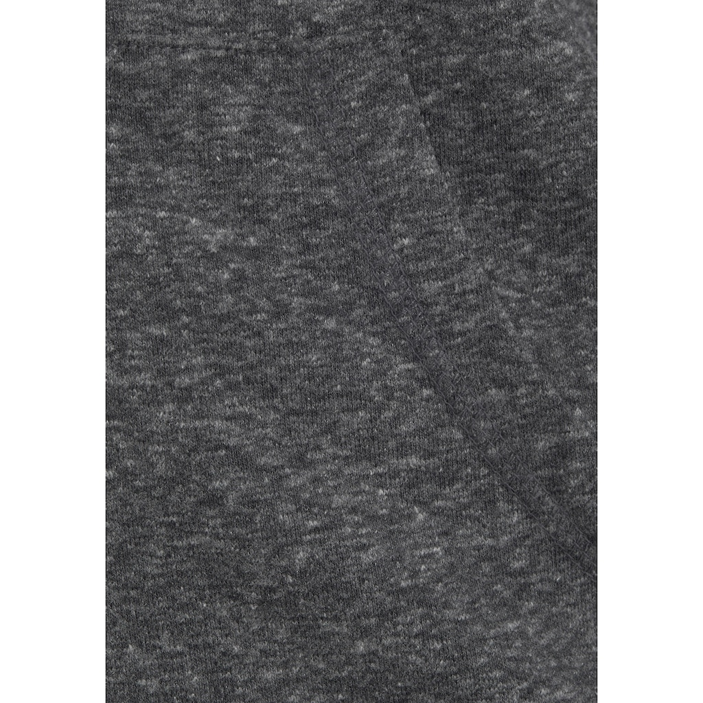 Bench. Kapuzensweatjacke, meliert mit Logodruck