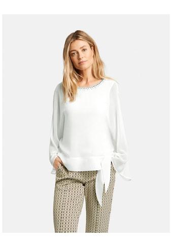 GERRY WEBER Bluse 3/4 Arm »Bluse mit Steinchenzier« kaufen