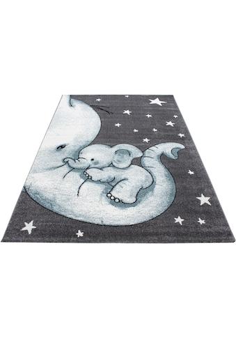 Ayyildiz Kinderteppich »Kids 560«, rechteckig, 12 mm Höhe, Elefanten Kinder Design,... kaufen