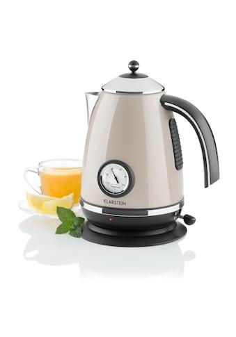Klarstein Wasserkocher Teekessel Retro 1,7l Temperaturanzeige Thermometer kaufen