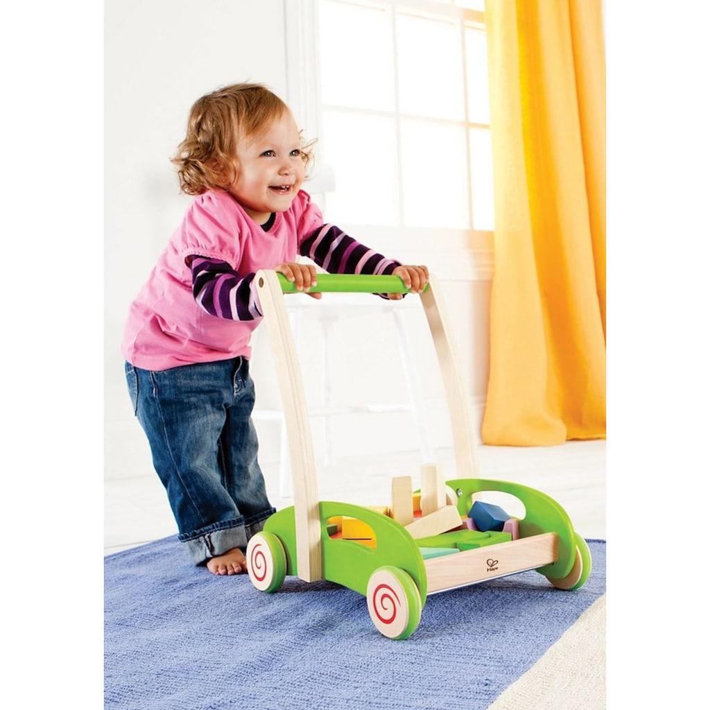 Hape Lauflernwagen »Bauwagen«, mit Bausteinen