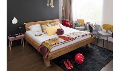 SalesFever Massivholzbett »Eik«, Balkenbett in rustikaler Landhaus Optik kaufen