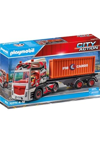 Playmobil® Konstruktions-Spielset »LKW mit Anhänger (70771), City Action«, (60 St.),... kaufen