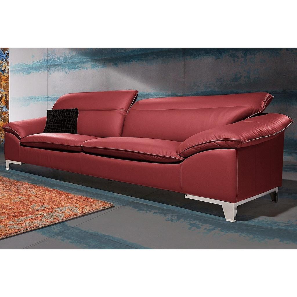 COTTA Polstergarnitur, (Set), Set: bestehend aus 3-Sitzer und Hocker, frei im Raum stellbar