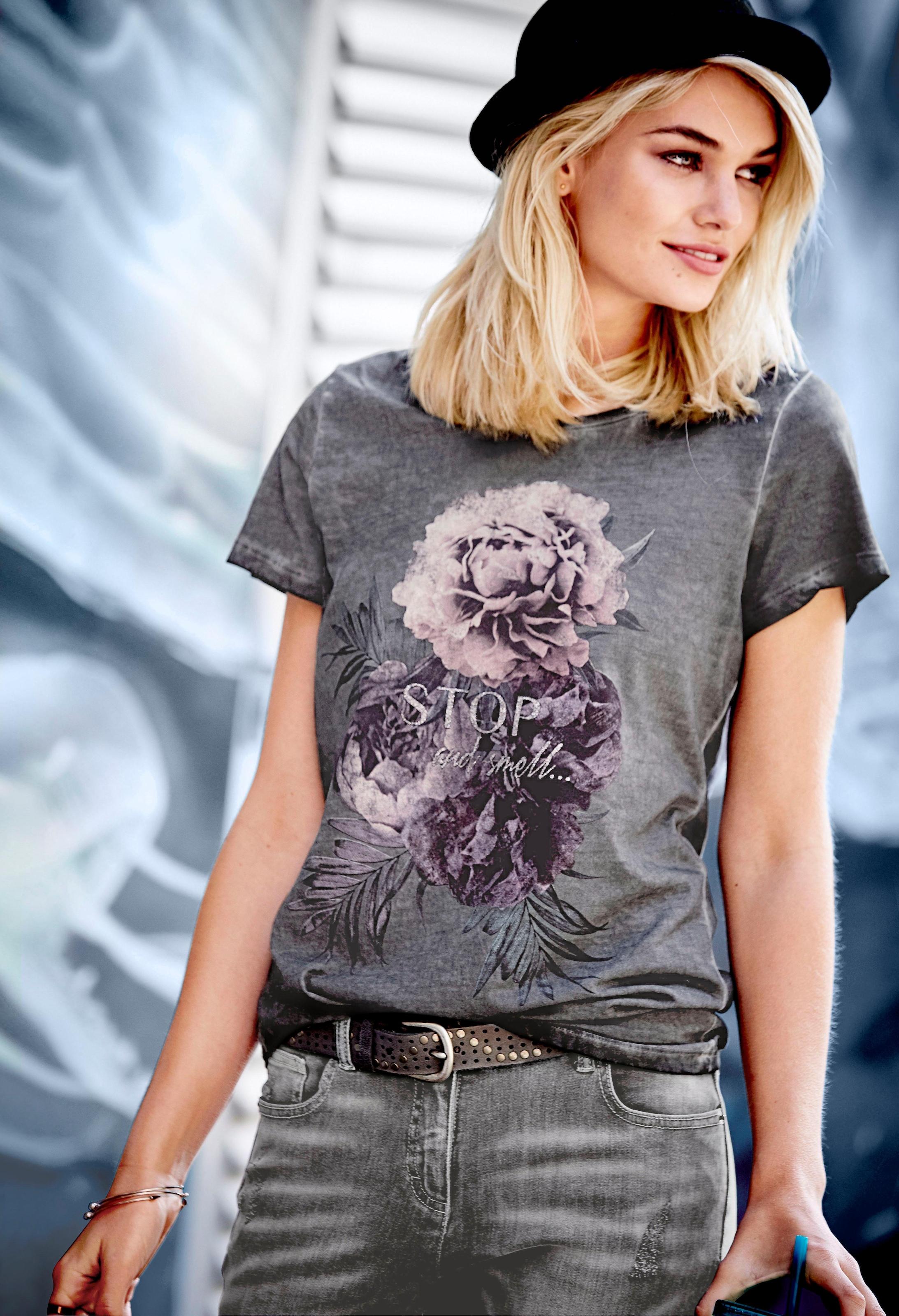 T-Shirt mit Printing